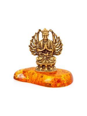 Фигура Будда Aztek. Цвет: желтый, коричневый, светло-оранжевый