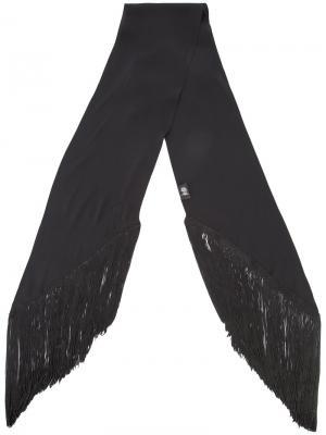 Plain fringed skinny scarf Rockins. Цвет: none