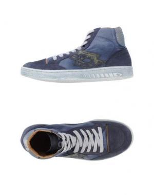 Высокие кеды и кроссовки LOTTO LEGGENDA. Цвет: темно-синий