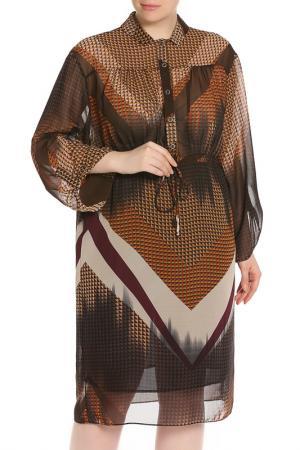 Платье Forus. Цвет: коричневый
