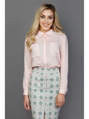 Рубашка Welldress. Цвет: бледно-розовый