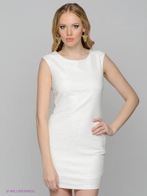Платье Vila. Цвет: белый