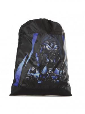 Мешок для обуви UNION. Цвет: черный, голубой, лазурный