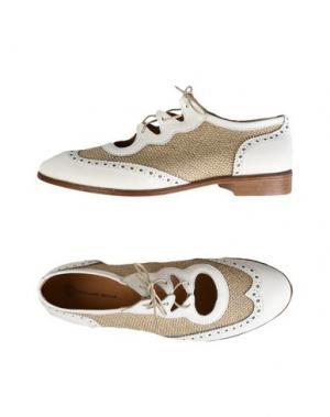 Обувь на шнурках LEONARDO PRINCIPI. Цвет: белый