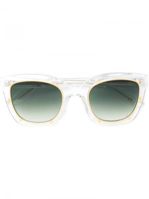 Солнцезащитные очки в прозрачной квадратной оправе Robert La Roche. Цвет: белый