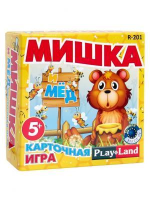 Карточна игра Мишка и мед PLAY LAND. Цвет: желтый, красный, синий