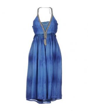 Платье длиной 3/4 EYEDOLL. Цвет: синий