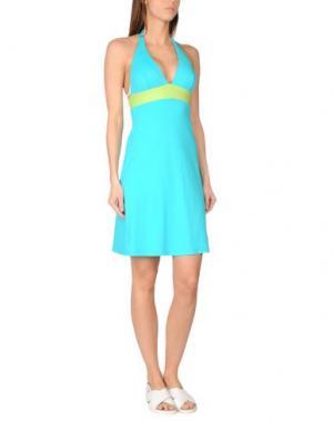 Пляжное платье FISICO. Цвет: бирюзовый