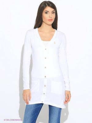 Кардиган U.S. Polo Assn.. Цвет: белый