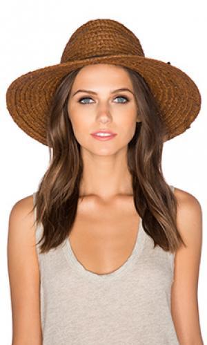 Шляпа bristol Brixton. Цвет: коричневый
