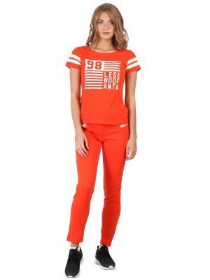 Брюки ANTA. Цвет: оранжевый
