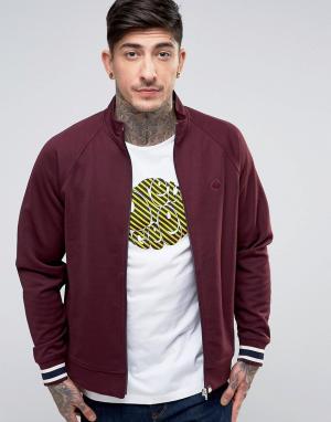 Pretty Green Бордовая спортивная куртка Forston. Цвет: красный