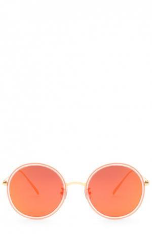 Очки солнцезащитные Gentle Monster. Цвет: оранжевый