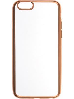 Apple iPhone 6 silicone chrome border 4People skinBOX. Цвет: золотистый