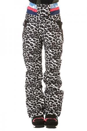 Штаны сноубордические женские  Squad Leo Print Picture Organic. Цвет: черный,белый