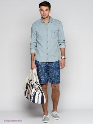 Бермуды Solid. Цвет: синий