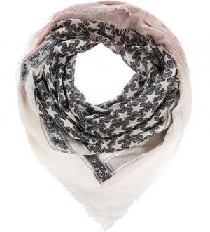 Квадратный платок с содержанием шерсти ELEGANZZA. Цвет: черный