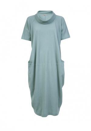 Платье LO. Цвет: зеленый