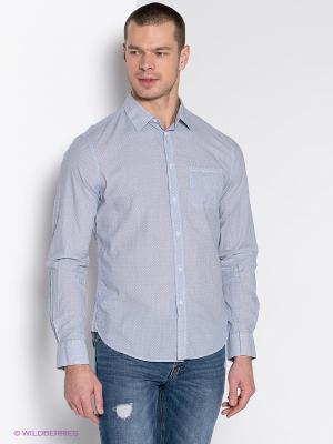 Рубашка INCITY. Цвет: голубой, черный