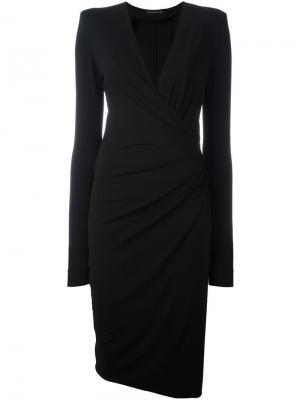 Платье c V-образным вырезом Alexandre Vauthier. Цвет: чёрный