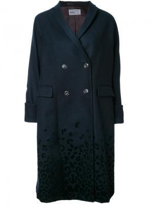 Двубортное пальто Kolor. Цвет: синий