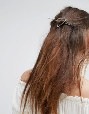 DesignB London Заколка для волос. Цвет: серебряный