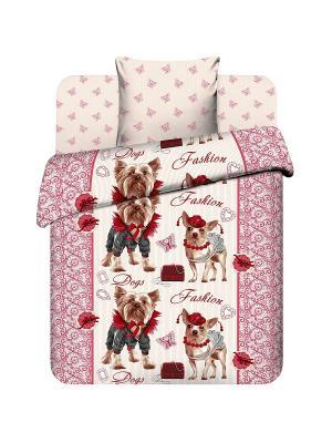 Комплект постельного белья для подростков Василиса. Цвет: розовый
