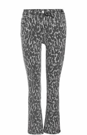 Укороченные расклешенные джинсы с принтом Paige. Цвет: разноцветный