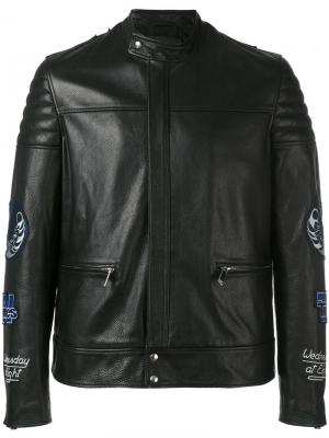 Кожаная куртка Video Blood Brother. Цвет: чёрный