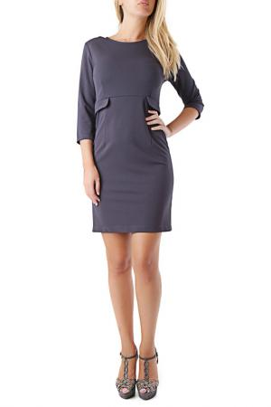 Платье Cristina Gavioli. Цвет: серый