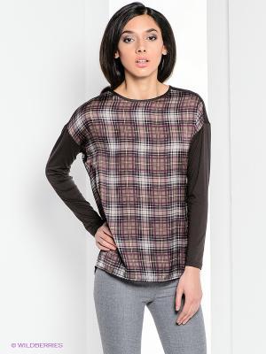 Блузка Henry Cotton's. Цвет: коричневый, белый, черный