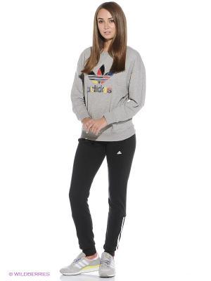 Джемпер TREFOIL SWEATS Adidas. Цвет: серый