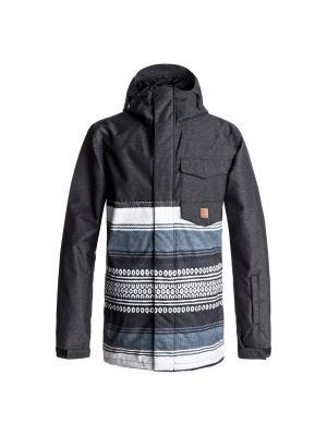 Куртка DC Shoes. Цвет: серый, светло-серый, темно-фиолетовый