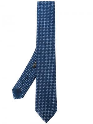 Галстук с плетеным узором Corneliani. Цвет: синий