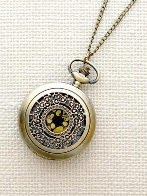 Кулон-часы Кучевые облака с золотом Mitya Veselkov. Цвет: бронзовый