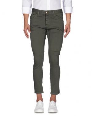 Джинсовые брюки TAKESHY KUROSAWA. Цвет: зеленый-милитари