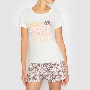 Пижама с шортами Paul Franck FRANK. Цвет: рисунок/белый
