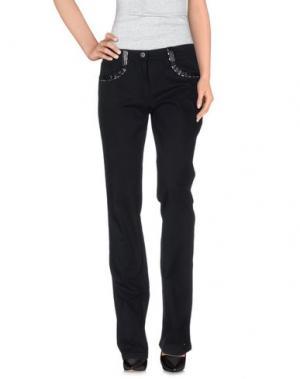 Повседневные брюки ROCCOBAROCCO. Цвет: черный