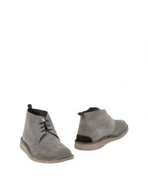 Полусапоги и высокие ботинки ANGELO NARDELLI. Цвет: серый