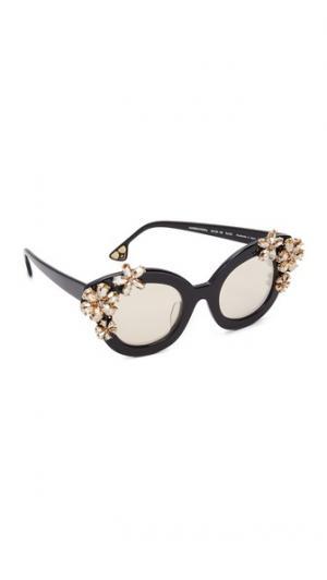 Солнцезащитные очки Madison с цветочным рисунком alice + olivia