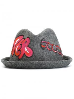 Шляпа Bradi Celine Robert. Цвет: серый