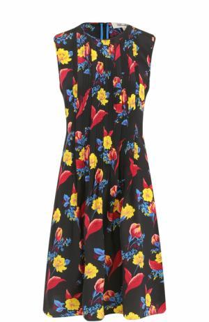 Шелковое мини-платье с принтом Diane Von Furstenberg. Цвет: разноцветный