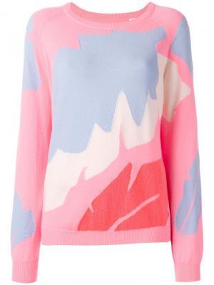 Джемпер Intarsia Chinti & Parker. Цвет: розовый и фиолетовый