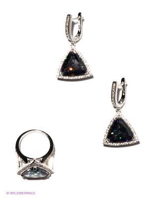 Комплект Lovely Jewelry. Цвет: серебристый, сиреневый, синий, зеленый