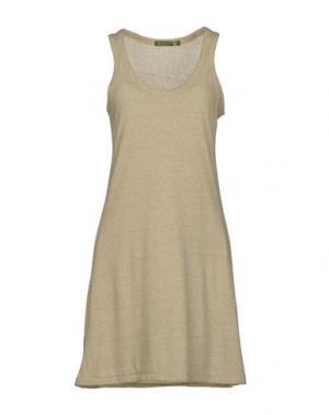 Короткое платье ALTERNATIVE EARTH. Цвет: песочный
