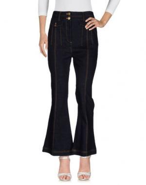 Джинсовые брюки SELF-PORTRAIT. Цвет: синий