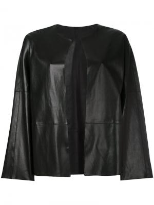 Открытая куртка Federica Tosi. Цвет: чёрный