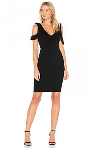 Платье двойной вязки sora Ronny Kobo. Цвет: черный