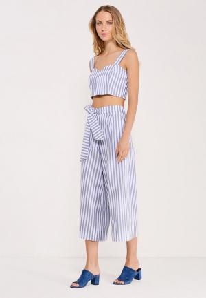 Комплект топ и брюки Kira Mesyats. Цвет: голубой