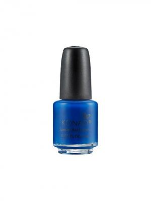 Лак для стемпинга на акриловой основе S22 Blue. Синий 5 мл Konad. Цвет: синий